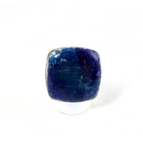 Bague carrée violette et bleue