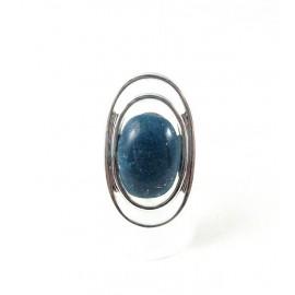 Bague ovale bleu marine