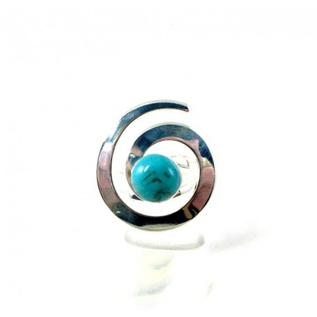Bague spirale turquoise