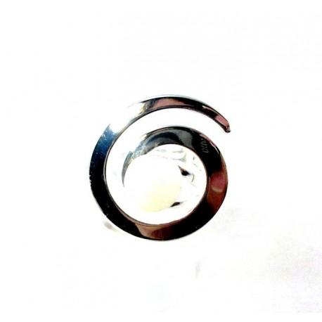 Bague spirale blanche