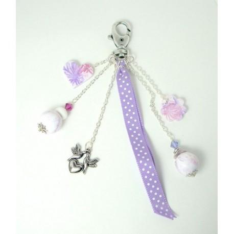 Bijou de sac violet et rose