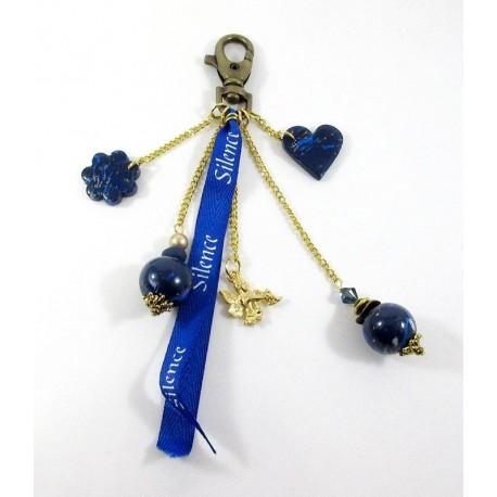 Bijou de sac imitation lapis lazuli